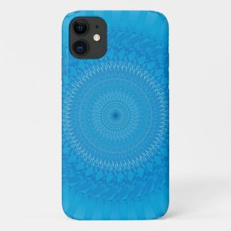 Sun Mandala Light blue iPhone 11 Case