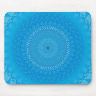 Sun Mandala Light blue Mouse Pad