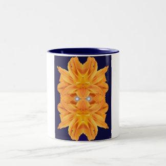 Sun Mask Two-Tone Coffee Mug