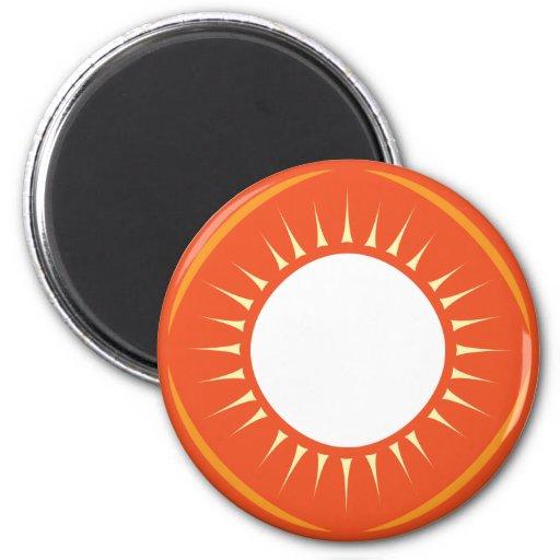 Sun Medallion Fridge Magnets
