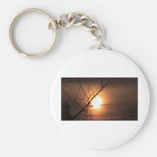 Sun Melt Basic Round Button Keychain
