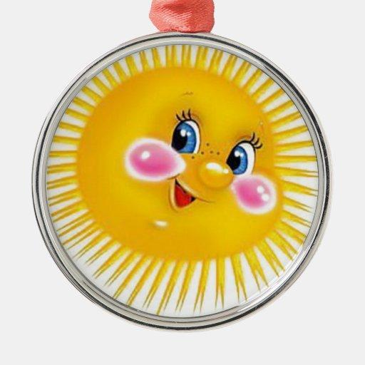 sun metal ornament
