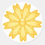 Sun Modern Design Round Sticker