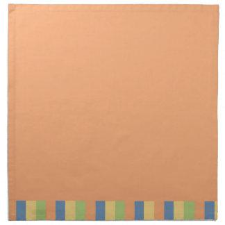 Sun mojó colores anaranjados y rayados servilletas de papel