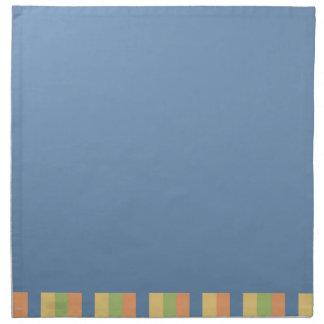 Sun mojó colores azules y rayados servilletas imprimidas