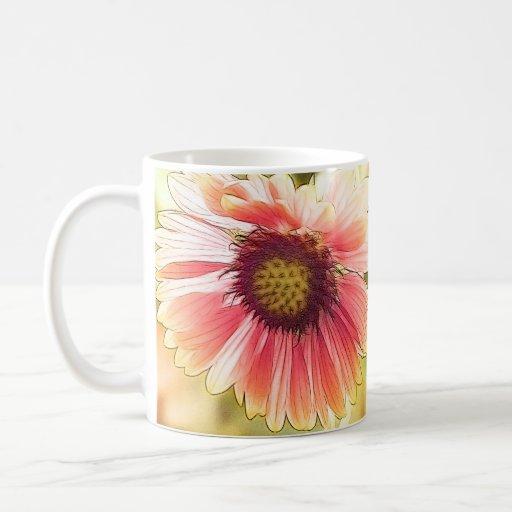 Sun mojó las flores del Gaillardia Taza De Café