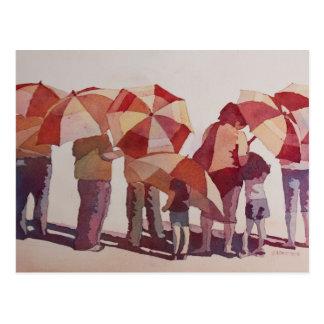Sun mojó los parasoles tarjeta postal