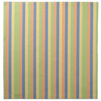 Sun mojó rayas del color servilletas de papel
