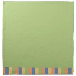 Sun mojó verde con colores rayados servilleta de papel