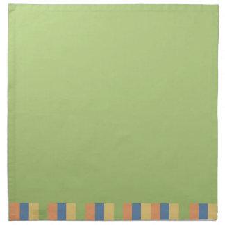 Sun mojó verde con colores rayados servilleta imprimida