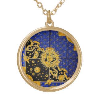 SUN MOON AND STARS GOLD PLATED NECKLACE