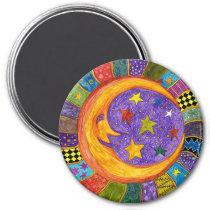 Sun, Moon and Stars Magnet