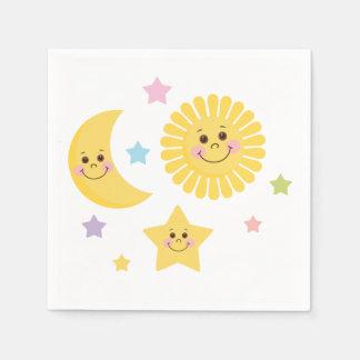 Sun, Moon and Stars Napkin