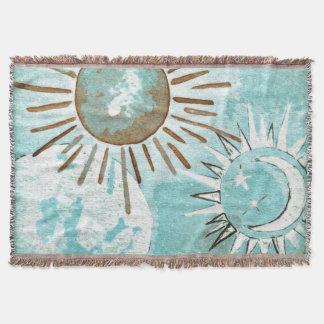 Sun, Moon and Stars Throw Blanket