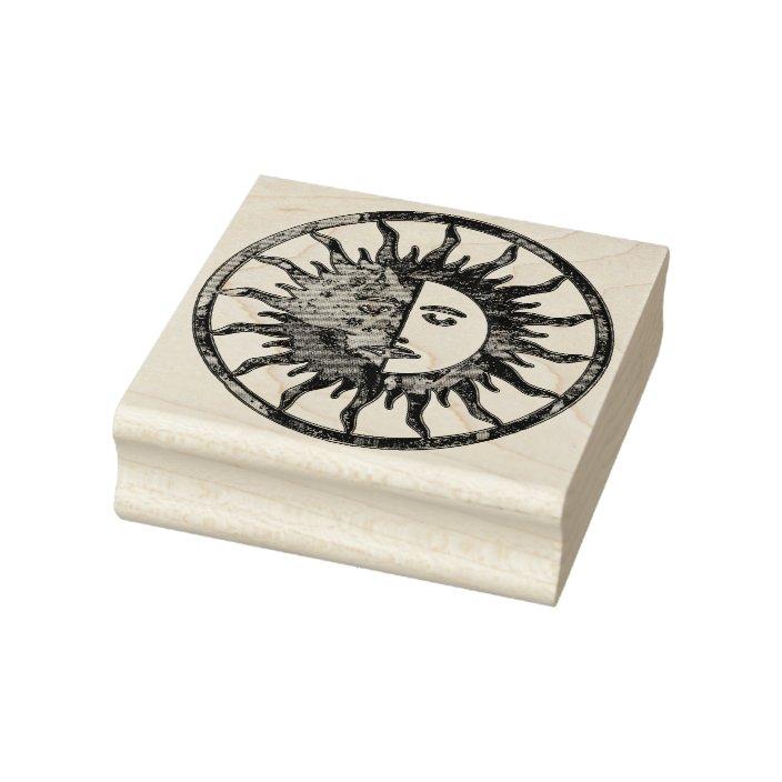Moon Spirit art rubber stamp