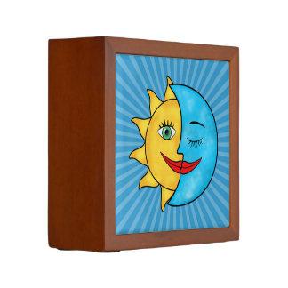 Sun Moon Celestial theme solar rays Pencil Holder