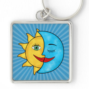 Sun Moon Keychain