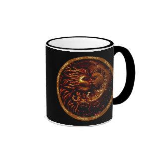 Sun,Moon,Kiss Gifts Ringer Coffee Mug