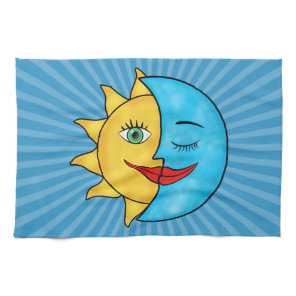 Sun Moon Kitchen Towel