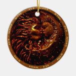 Sun<Moon, ornamento del beso Adornos De Navidad