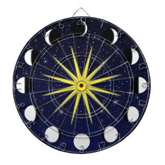 Sun, Moon Phases & Stars Dartboards