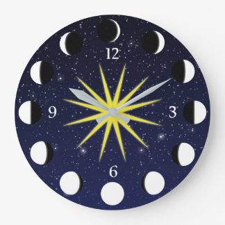 Moon Phases Wall Clocks Zazzle