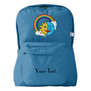Sun Moon Rainboow Celestial Backpack