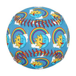 Sun Moon Rainboow Celestial theme Baseball