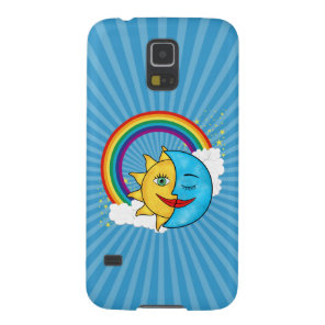 Sun Moon Rainboow Celestial theme Case For Galaxy S5