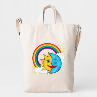 Sun Moon Rainboow Celestial theme Duck Bag