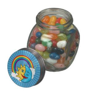 Sun Moon Rainboow Celestial theme Jelly Belly Candy Jars