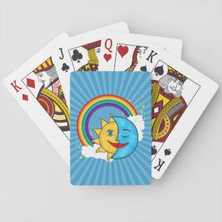 Sun Moon Rainboow Celestial theme Playing Cards