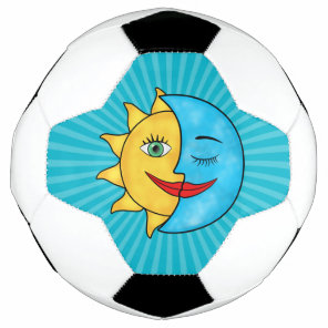 Sun Moon Rainboow Celestial theme Soccer Ball