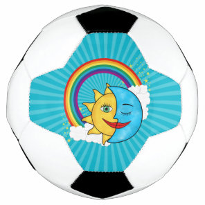 Sun Moon Rainboow Celestial theme Soccer Ball