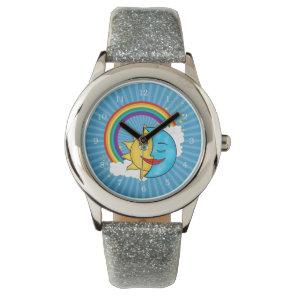 Sun Moon Rainboow Celestial theme Watch