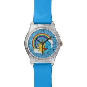 Sun Moon Rainboow Celestial theme Wrist Watch