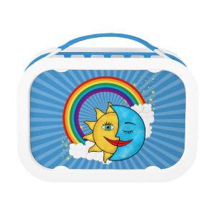 Sun Moon Rainbow Clouds Stars Lunch Box