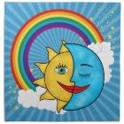 Sun Moon Rainbow Stars Cloth Napkin