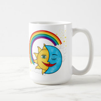 Sun Moon Rainbow Stars Coffee Mug