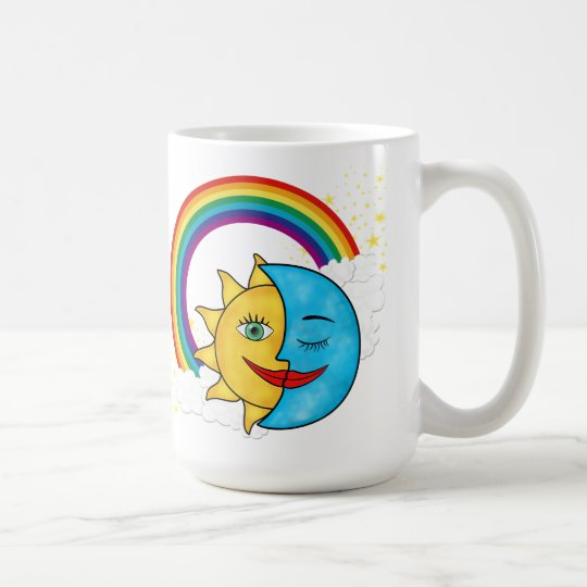 Sun Moon Rainbow Stars Coffee Mug