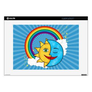 """Sun Moon Rainbow Stars Decal For 15"""" Laptop"""