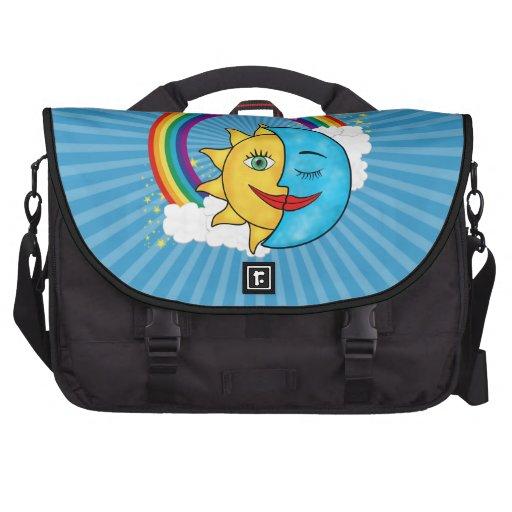 Sun Moon Rainbow Stars Laptop Computer Bag