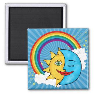 Sun Moon Rainbow Stars Magnet