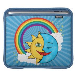 Sun Moon Rainbow Stars Sleeve For iPads