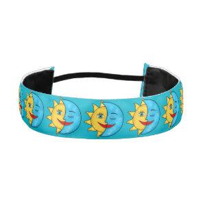Sun Moon solar rays Celestial theme Athletic Headband