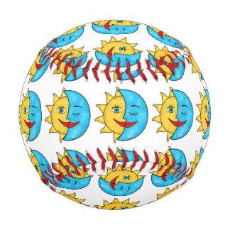Sun Moon solar rays Celestial theme Baseball