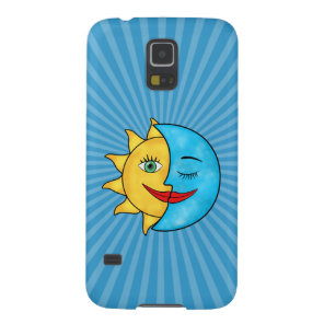 Sun Moon solar rays Celestial theme Case For Galaxy S5