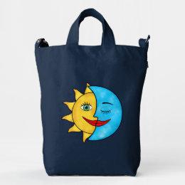 Sun Moon solar rays Celestial theme Duck Bag