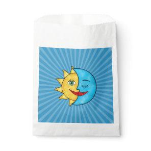 Sun Moon solar rays Celestial theme Favor Bag