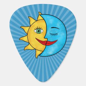 Sun Moon solar rays Celestial theme Guitar Pick